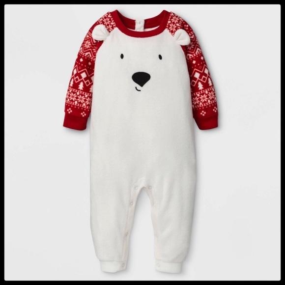 """Kids/' Holiday /""""Lil/"""" Bear Pajama Set Wondershop Target Matching Family"""
